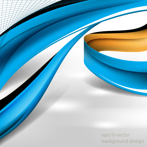 Minimalistic dynamic wave background vector 07