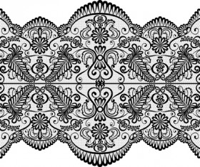 Old lace ornament background art 01