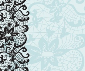Old lace ornament background art 02