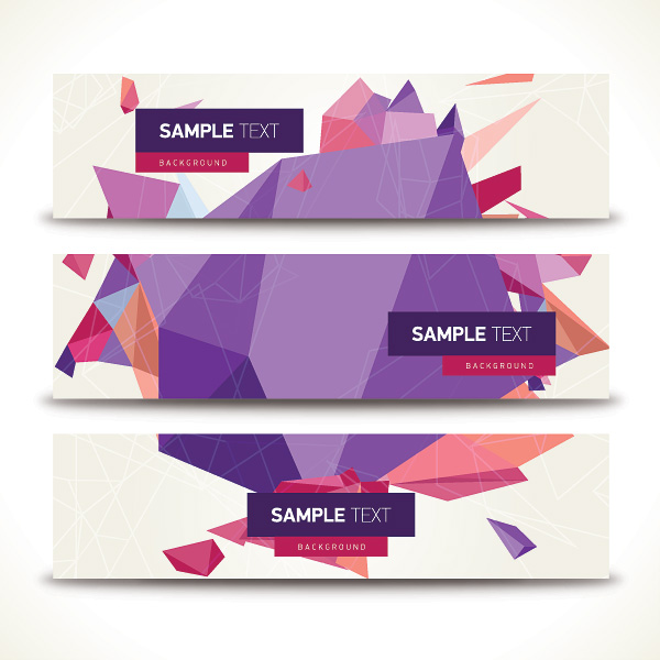 Origami geometric shapes vector banner over millions vectors origami geometric shapes vector banner toneelgroepblik Image collections