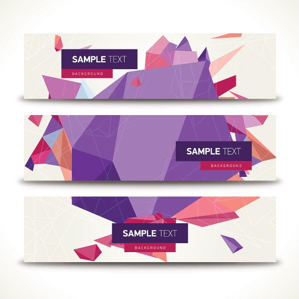 Origami geometric shapes vector banner over millions vectors origami geometric shapes vector banner toneelgroepblik Gallery