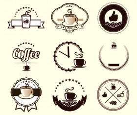 Original design coffee labels vector 01