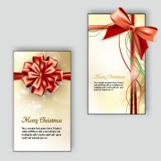 Link toOrnate christmas bow greeting cards vector 02