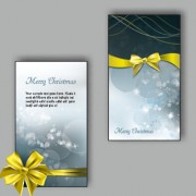 Link toOrnate christmas bow greeting cards vector 06