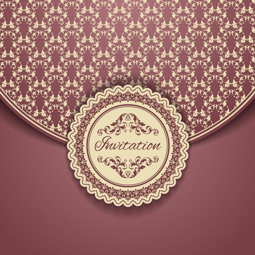 Ornate vintage floral art backgrounds vector 07