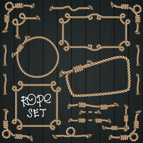 realistic rope border and frame vector 05 free download