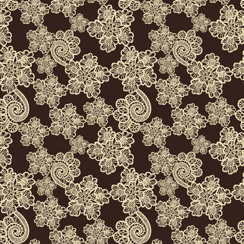 Retro lace ornament pattern seamless vector 03