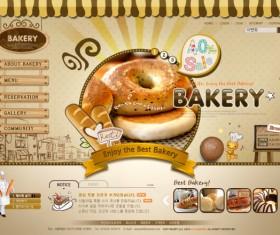 Retro style bakery website template
