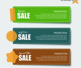 Sale banner discount price vector