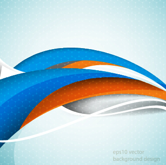Shiny abstract wave background graphics vector 04