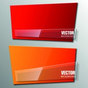 Link toShiny glass with origami banner vector 04