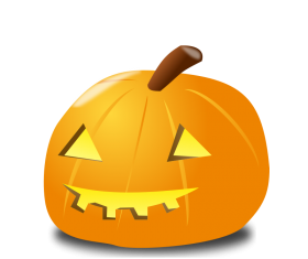 Shiny halloween pumpkins vector illustration 01
