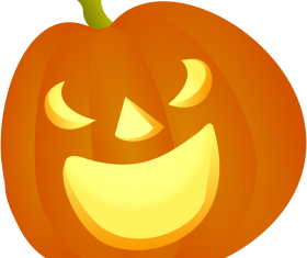 Shiny halloween pumpkins vector illustration 02