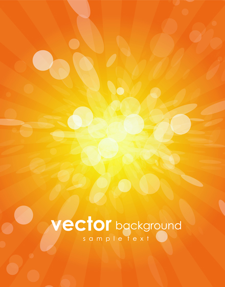 Shiny orange abstract vector background