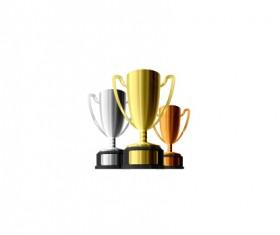 Shiny trophy gold design vector 01