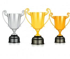 Shiny trophy gold design vector 03