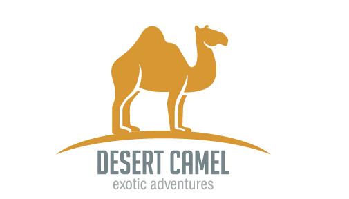 Simple desert camel logo design vector - Vector Animal ...