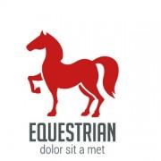 Link toSimple equestrian logo design vector