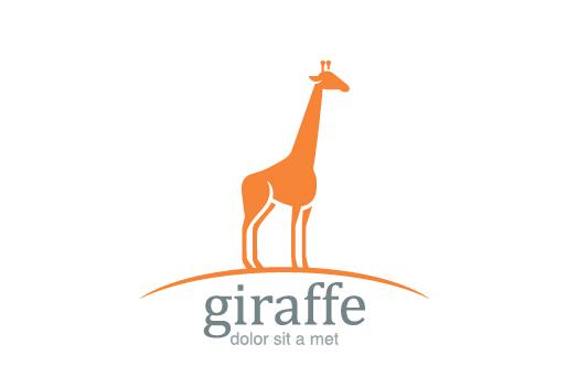 Simple giraffe logo design vector