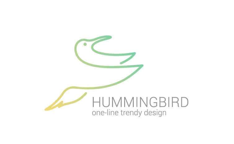 Simple hummingbird logo design vector – Over millions ... Hummingbird Vector Logo