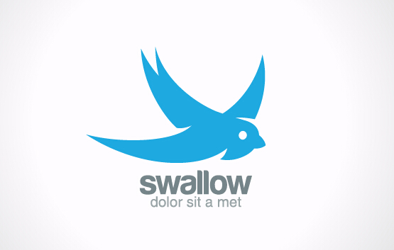 simple swallow logo design vector free download simple swallow logo design vector free