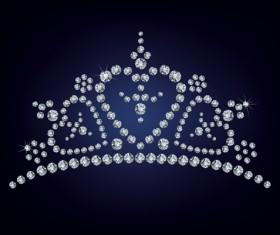 Sparkling diamonds clothing vector set 01