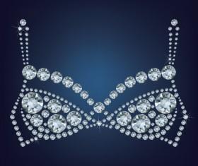Sparkling diamonds clothing vector set 02