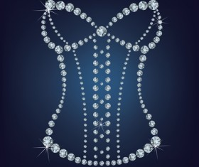 Sparkling diamonds clothing vector set 03