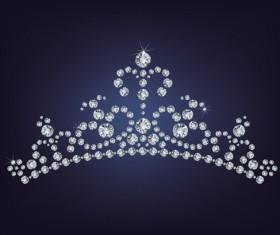 Sparkling diamonds clothing vector set 05