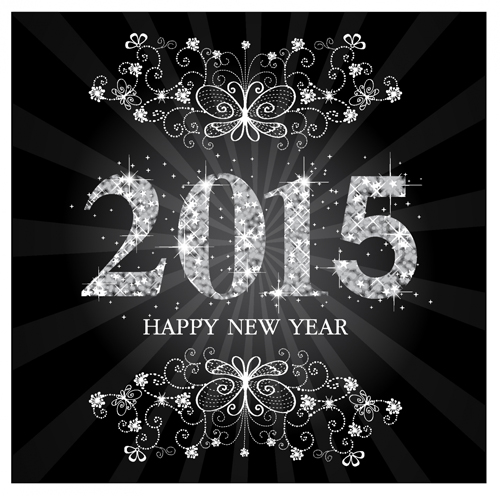 Sparkling ornament 2015 new year background