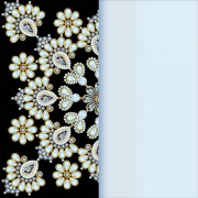 Link toStones and diamonds floral background vector 01