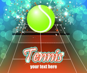 Tennis creative poster vector material