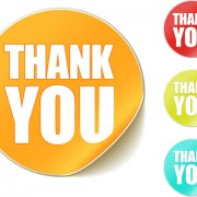 Link toThank you sticker vector material