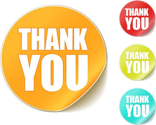 Thank you sticker vector material over millions vectors stock thank you sticker vector material toneelgroepblik Choice Image
