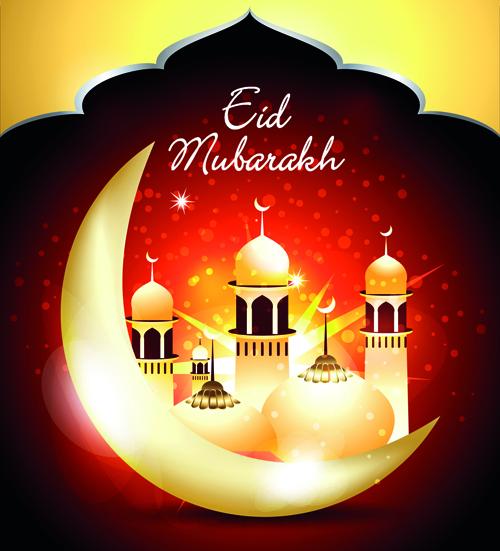Vector background Eid Mubarak Islamic design 04