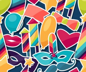 Vector carnival holiday background design 04