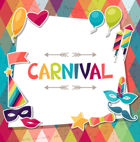 Free EPS file Vector carnival holiday background design 05 download