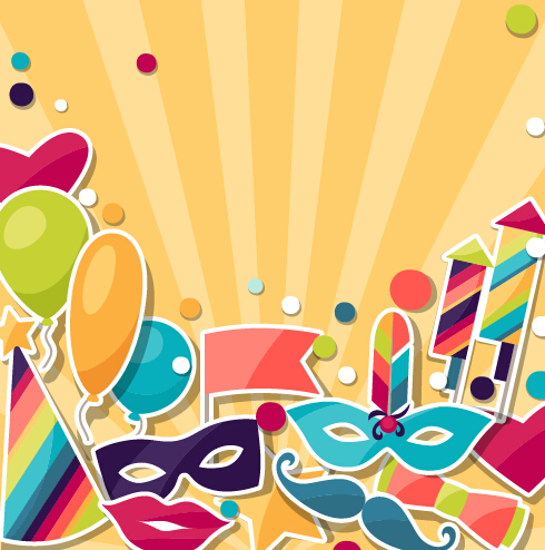 Vector Carnival Holiday Background Design 06 Vector