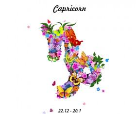 Vector horoscope flower set 10