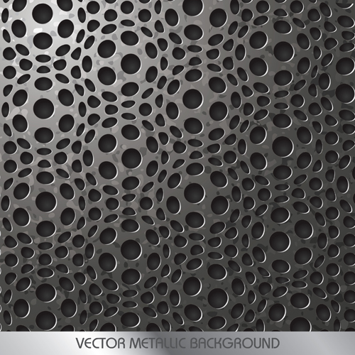 Vector pattern metallic backgrounds 02