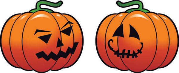 vector set of halloween pumpkin design material 05 - vector