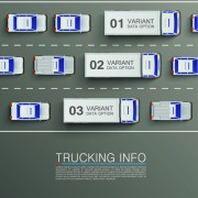 Link toVector trucking infographics material