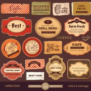 Link toVintage paper coffee labels vector