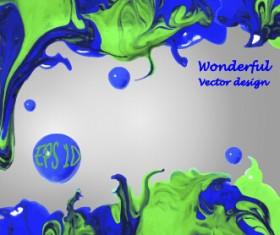 Wonderful oil paint art background vector 01
