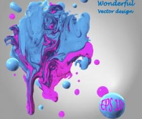 Wonderful oil paint art background vector 03