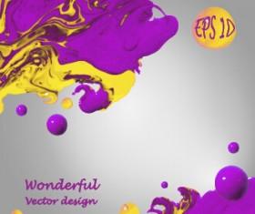 Wonderful oil paint art background vector 04
