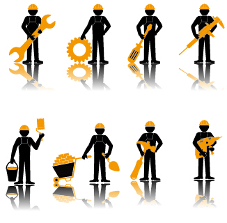 Worker With Repair Service Vector 02 Vector People Free