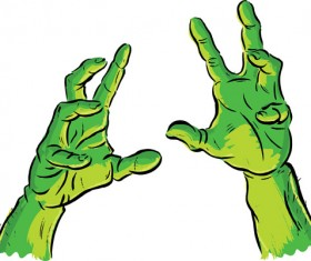 Spooky Halloween Hands vector