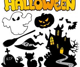 halloween series silhouette art vector