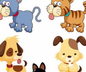 Cartoon puppies vector